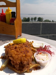 Tasty Fish and Chips at Battery Bistro
